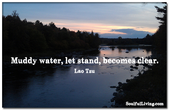 Muddy Water, Let Stand, Becomes Clear