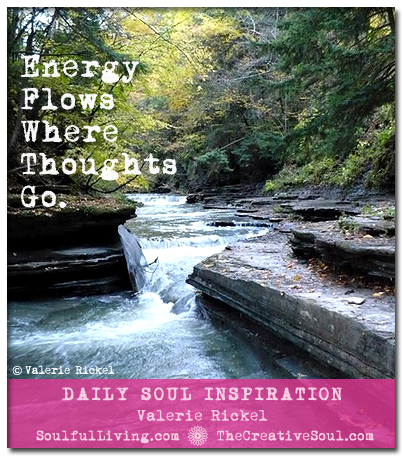 Energy Flows Where Thoughts Go