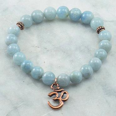 Aquamarine-Om-Mala-Bead-Bracelet