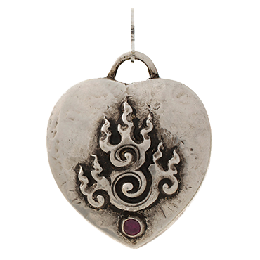 Heart-on-Fire-Amulet-Silver