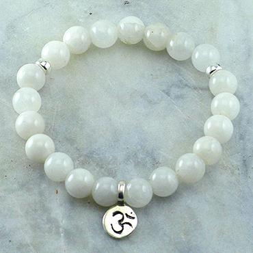 White-Quartz-Om-Mala-Bead-Bracelet-New