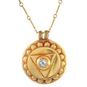 Chakra Pendant in 24K Fused Gold - Prize